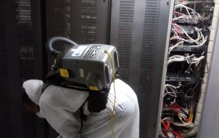 Server Room Underfloor Cleaning